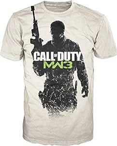 T-Shirt 'Call of Duty Modern Warfare 3' - Gunner logo - sable - Taille XL