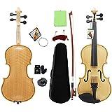 North King Chitarra Acustica Violino Naturale Colore Tiger Grano Luce Adulto Strumenti Musicali Violino 3/4