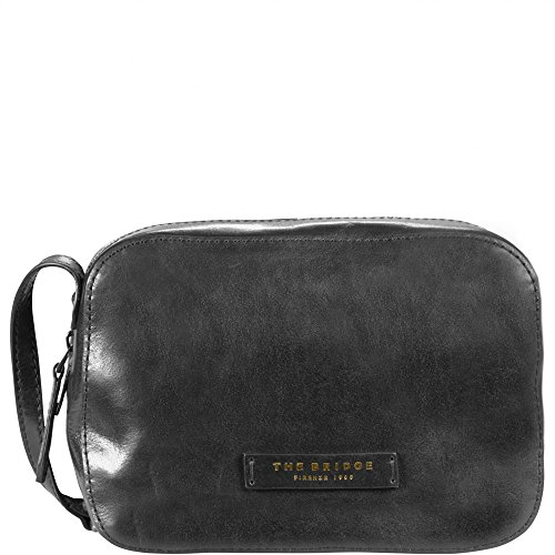The Bridge Plume Soft Donna Sac bandoulière cuir 24 cm nero-goldfarben