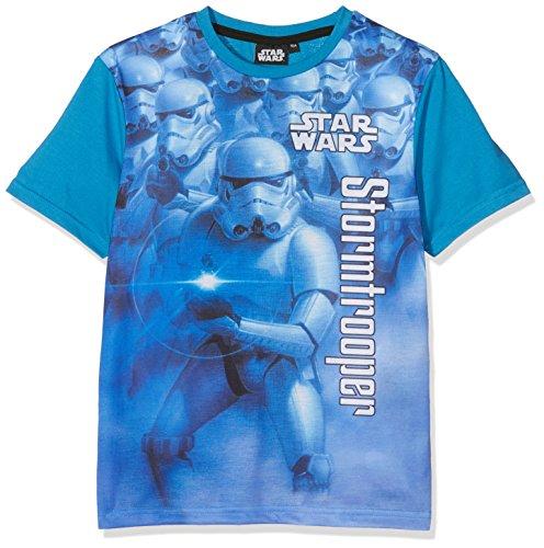 Star Wars Stormtrooper T-Shirt Jungen Shirt blau 104 / 110 für Kinder ca. 4 Jahre