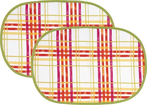 Erwin Müller Tischset 2er-Pack bunt Größe oval 30x45 cm