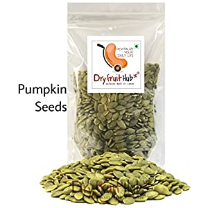 Dry Fruit Hub Pumpkin Seed raw, Weight 250gms (Green)