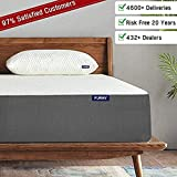 Furny Orthopedic Mattress, Responsive Memory Gel Foam Mattress, Moisture Wicking - Odor Reducing Breathable Fabric, Sleep Cooler, Supportive & Pressure Relief,ISO CertiPURE