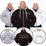 C.P.Sports Kapuzenjacke Gr.XL - Farbe: Weiß / Bodybuilding Pullover - Hoodie Sweater - Kapuzenpullover