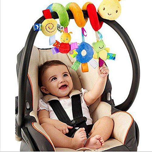 Hmjunboys Kinderwagen Spielzeug Baby-Autositz-Spielzeug kinderwagenkette Activity Spirale Bett hängen Pädagogische Plüschtier für Babys und Kleinkindern