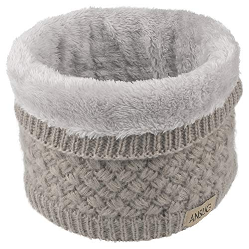 ANSUG Bufanda de punto unisex, Bufanda gruesa de abrigo de invierno para el cuello y la piel de invierno...