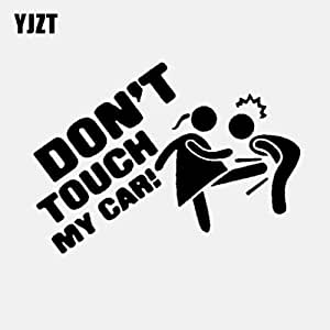 Intvn 4 Dont Touch My Car Vinyl Car Sticker Don T Touch My Car Window Door Funny Car Sticker Black And White 15 Cm X 9 Cm Auto