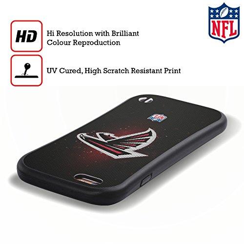 Ufficiale NFL Pattern 2017/18 Atlanta Falcons Case Ibrida per Apple iPhone 7 Plus / 8 Plus LED