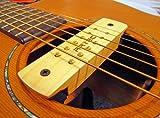 Artec, Schallloch-Tonabnehmer für Akustikgitarren, Walnussholz, 6 oder 12 Saiten, Brummunterdrücker