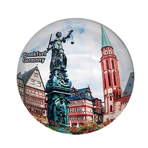 Roman Forum Frankfurt Deutschland Kühlschrankmagnet 3D Kristall Glas Tourist Stadt Reise Souvenir Sammlung Geschenk Starke Kühlschrank Aufkleber