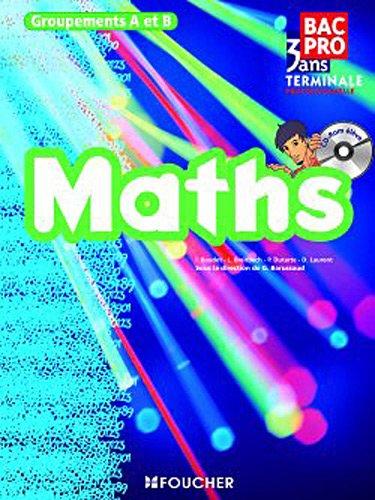 Mathématiques Groupements A et B Tle Bac Pro