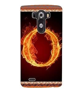 ColourCraft Aphabet O Back Case Cover for LG G3 D855