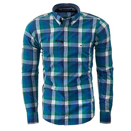 Tommy hilfiger -  camicia casual  - basic - uomo montana (977) xl