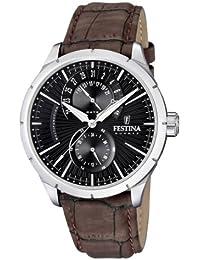 Festina F16573/4 - Reloj analógico de cuarzo para hombre con correa de piel, color marrón