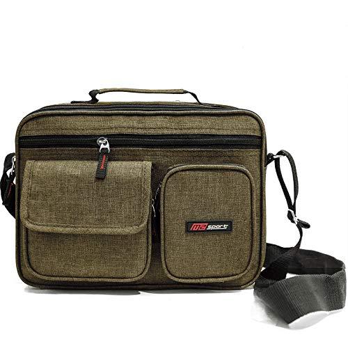 Schultertasche Umhängetasche Tasche Handtasche Herren Damen Männer Messenger Bag verleiht Herren und Damen EIN edlen Punkt und ist die Beste Wahl die Sie zur Vollendung benötigen (Braun) (Nike Messenger Bag Für Männer)