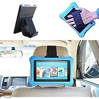 """3 in 1 Correa de Mano de Seguridad, Multiángulo Soporte Tablet Fire / E-reader Kindle & Soporte de reposacabezas de coche para Kindle / Kindle Paperwhite 6"""" (15,2 cm) / Kindle Voyage / Nuevo e-reader Kindle Oasis / Tablet Fire 7 (8 GB Negro) / Tablet Fire HD 8"""