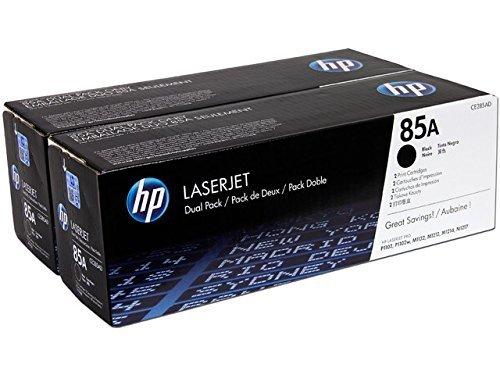HP 85A - Pack de ahorro de 2 cartuchos de tóner original LaserJet negro para HP Laserjet PRO P1102, P1102w, M1132, M1212, M1214, M1217