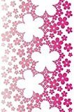 Livingwalls panel autoadhesivo Pop Up Panel rojo lila blanco 2,50 m x 0,35 m 942331