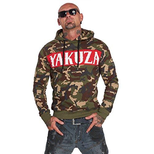 Yakuza Herren Military Flag Hoodie Kapuzenpullover (Hoodie Flag Rebel)