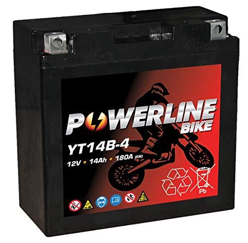YT14B-4 Powerline AGM Motocicletta Batteria 12V 14Ah YT14B4