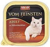 Animonda Vom Feinsten Adult Nassfutter, für ausgewachsene Katzen, mit Hühnchenleber, 32 x 100 g