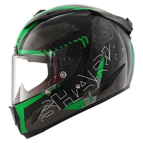 Shark casco Moto Race R Pro cintas KGA, verde, talla XL