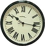TechnoLine WT 7050 Orologio da Parete, Metallo, Nero, 50 x 6 x 50 cm