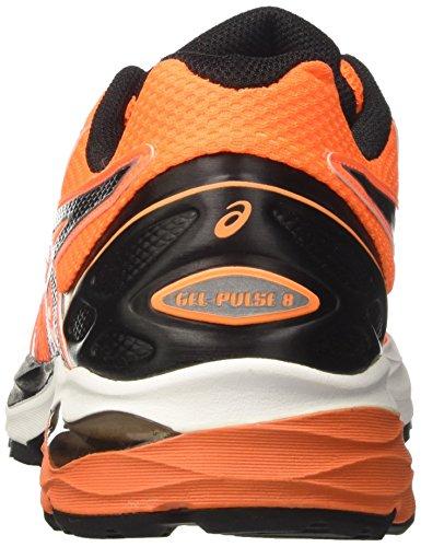 Asics Gel-Pulse 8, Scarpe da Ginnastica Uomo Arancione (Rose Shocking Orange/black/white)
