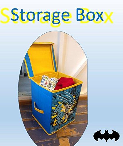 Batman SBB_BM1 Storage Box Big with Lid Toys Organizer for Kids, Large, Blue