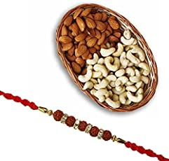 SFU E Com Rakhi for Brother with Dry Fruits Gift Combo (RUDRADRY18/DRY)