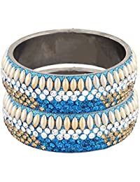 Pass Pass Gracefully Designed Bangles Set For Women And Girls Set Of 2