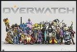Overwatch Poster Anniversary Line up (62x93 cm) gerahmt in: Rahmen Schwarz
