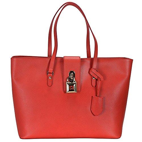 Patrizia Pepe Lock Fly Sac à main - Fourre-tout cuir 37 cm bright red