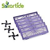 Smartide Hochleistungsfilter Ersatz für alle Neato Botvac Serie und Neato Botvac D Serie 70E, 70,75,85, 85E 75E 80 85 D70 D75 D80 D85 D3 D5 (6 Filter +3 Bürsten)