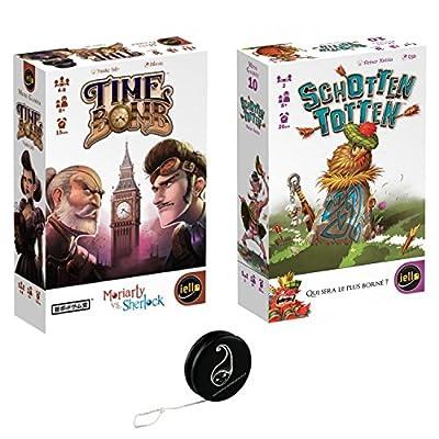 Lot de 2 jeux Iello : Time Bomb + Shotten Totten + 1 Yoyo Blumie