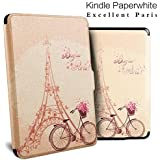 Beautiful Premium Kindle Paperwhite Case. Premium SmartShell Lightest Thinnest Protective PU Leather Case With (Auto Wake/Sleep) Folio Flip Case Flip Cover For Amazon Kindle Paperwhite 2012 , 2013 , 2014 And 2015 New 300 PPI Flip Cover Flip Case (Hello Pa