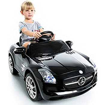 Costway mercedes benz sls amg kids ride on car 6v electric for Mercedes benz toddler car