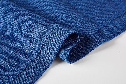 Aidonger Donna Cardigan a Maniche Lunghe Irregolare Maglieria Maglione Blu