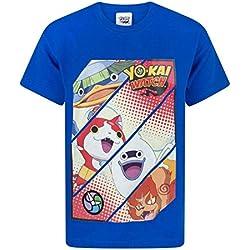 Yo-Kai Watch - T-shirt - Maniche corte - ragazzo blu 7-8 Anni