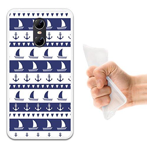 WoowCase Ulefone Gemini Hülle, Handyhülle Silikon für [ Ulefone Gemini ] Marine Style- Schiff und Anker Handytasche Handy Cover Case Schutzhülle Flexible TPU - Transparent (Gemini-schiff)