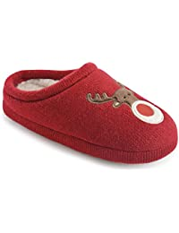 Fralosha las zapatillas calcetines W / ABS 3D animal exclusivo de zapatillas (Rojo) Bg2LM05