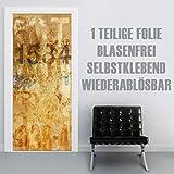 XXL-Tapeten Türtapete selbstklebend TürPoster Grunge Wall 2 im Format 90x210cm - Türfolie Klebefolie von Trendwände