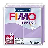 Staedtler FIMO Effect, Pâte à modeler à effet pastel lilas extrêmement souple, Durcissant au four, Pour débutants et artistes, Facile àdémouler, Pain de 57 grammes, 8020-605