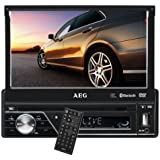 AEG AR 4026 Car Radio (17.5 cm / 7 Inch LCD Display Touchscreen SD Card Slot USB) Black