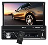 """AEG AR 4026 Autoradio con DVD/CD, Schermo di 7"""", touch screen, Bluetooth, Nero"""