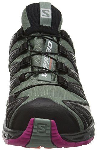 Salomon Xa Pro 3d Gtx, Scarpe da Trail Running Donna Grigio (Light Titan/BLACK/CORAL Punch)
