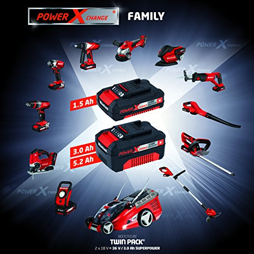 Einhell Akku Schlagbohrschrauber TE-CD 18-2 Li-i Power X-Change (Lithium Ionen, 18 V, 1,5 Ah, 2 Gang, 48 Nm, LED-Licht, Schnellladegerät, Koffer) - 11