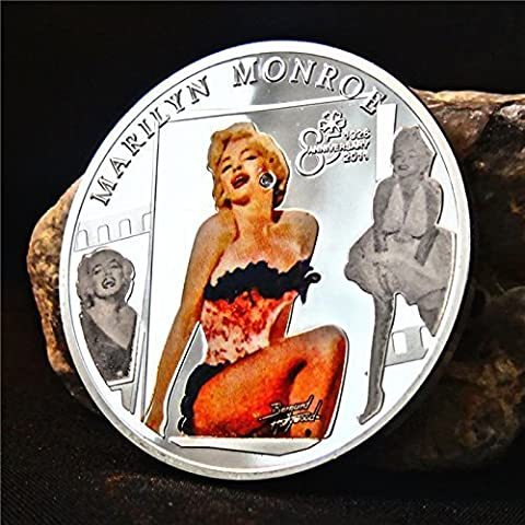2015 Marilyn Monroe Coin New Design Forever Hollywood Movie Superstar 85th Annivesary Commemorative Silver Color Coat Coin by
