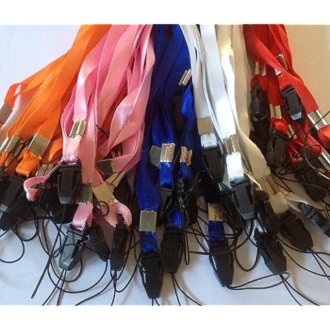 CKB Ltd 50 x Mixed Colour Pack Color Colore Misto Lanyard Laccetto Portabadge Laccio da collo Laccetti Multiuso per PortaBadge Cellulare Neck Strap ID Card Badge / Mobile Phone Holder