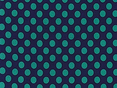 Michael Millar TA Dot popeline tissu quilting Minuit–par mètre + sans Minerva Crafts Craft